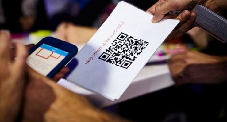Event Gamification phone scanning QR code