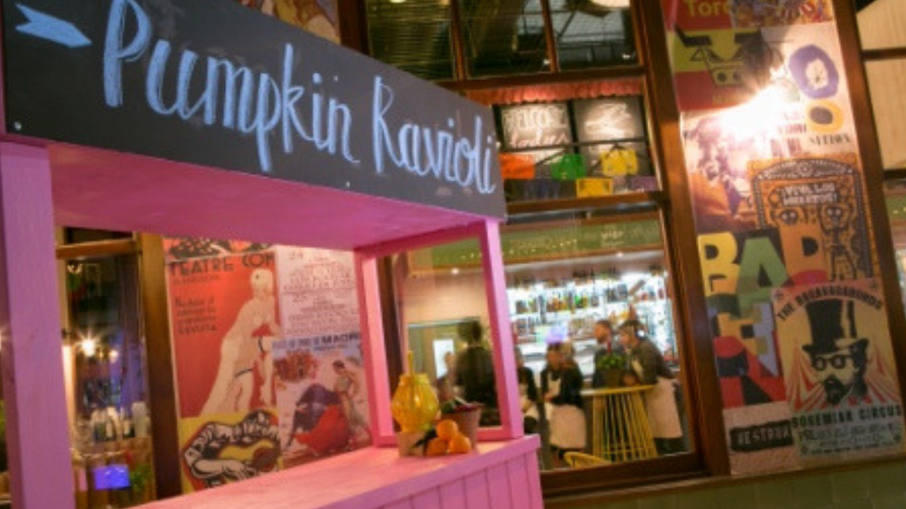 Pumpkin Ravioli food stand